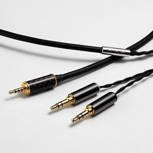 [해외]ORB 이어폰헤드폰 용 リケ?ブル Clear force 3.5 φ Slim body double 2.5 φ 마이크로 미니 플러그 (4 극) ↔ 미니 플러그 x2 [1.2 / ORB Earphone Headphone Recable Clear Force 3.5φ Body Slim Double 2.5φ Micro Mini Plug (4 Poles) to Mini...