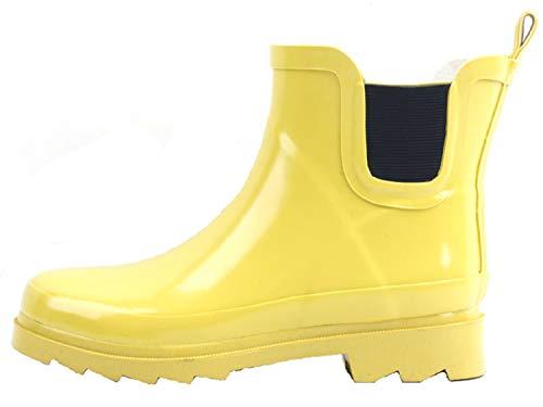 sh18es Shoes8teen Womens Short Rain Boots Prints & Solids (8, 1118 Red)