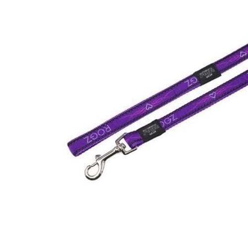 Rogz Fancy Dress Armed Response dog leash 4 ft XLarge / Purple Chrome