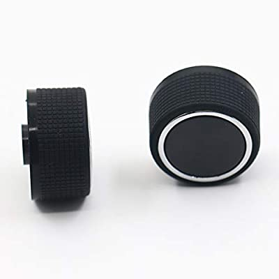 kaaka 2 Pcs Replacement Rear Radio Audio Air Condition Switch Volume Control Knob for 07-13 Chevrolet GMC Auto Vehicle Maintenance Common Replacement Part Accessory Black: Automotive
