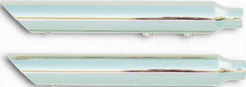 """Rush Exhaust 2.25"""" SLASH DOWN MUFFLER CHR Mufflers / Slip-ons 07-10 SOFTAIL DELUXE & CROSSBONES - 27501-225"""