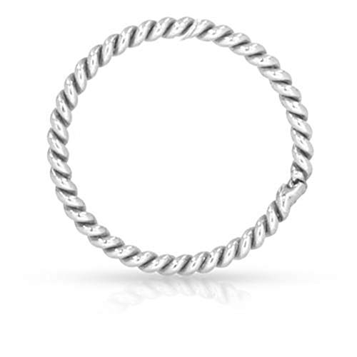 (Sterling Silver 20ga 4mm Twisted Closed Jump Rings - 50pcs (4485)/1)