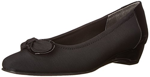 Cradles Classic Pumps Black Toe Womens Micro Walking Leather Square Bean RqdAZZPxw