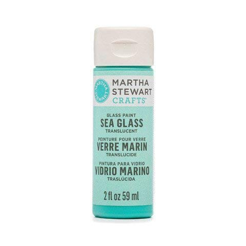 Martha Stewart Crafts Translucent Sea Glass Paint, in Assorted Colors (2 ounces), Beach Glass