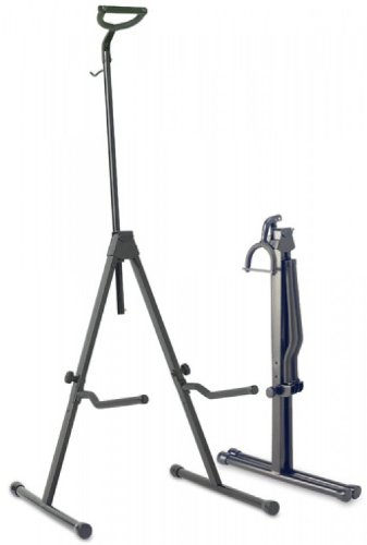 Stagg SV-CE Adjustable Foldable Stand for Cello with Hook for Bow - Black (Cello Stand Adjustable)