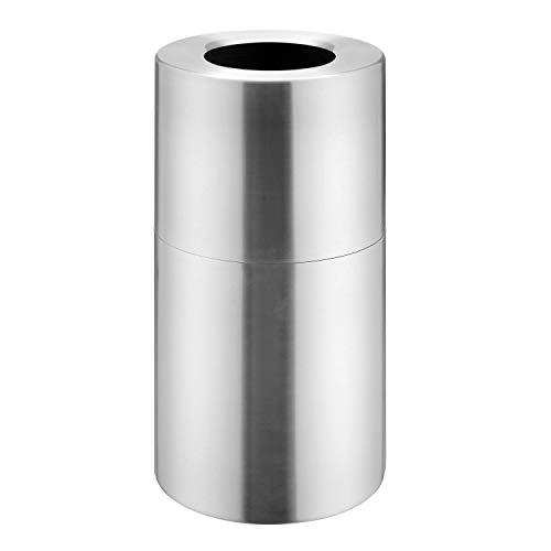 - Witt Industries AL18-CLR Aluminum 24-Gallon Decorative Trash  Can with Rigid Plastic Liner, Round, 15