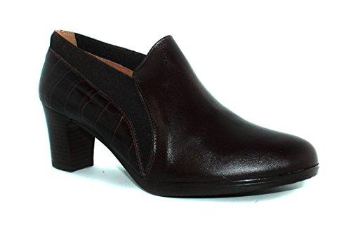 zapato de tacón de mujer - Maria Jaen modelo 1521N Moka oscuro