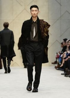 7be05b3f679a Image Unavailable. Image not available for. Color  Burberry Prorsum Runway  Men 100% Goat Suede Fringe Car Coat Size EU 52 - US