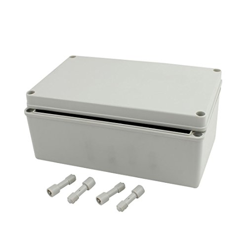 Price comparison product image uxcell 250mm x 150mm x 100mm Dustproof IP65 Junction Box DIY Case Enclosure Gray