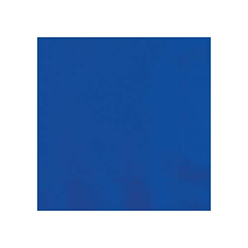 Creative Converting 803147B 50 Count Touch of Color Beverage Napkins, Any, Cobalt Blue