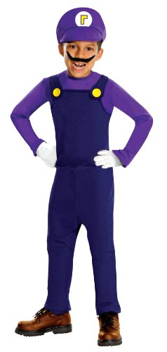 Mario Bros Costume For Toddler (Super Mario Bros. - Waluigi Deluxe Toddler / Child Halloween Costume (Small (4/6)))