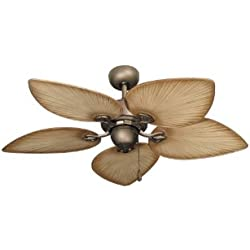 Gulf Coast Fans 42-Inch Bombay Tropical Ceiling Fan - Antique Bronze