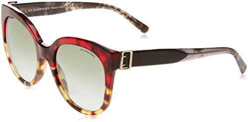 Burberry Women's BE4243 Sunglasses Red Havana/Light Havana/Green Gradient 55mm