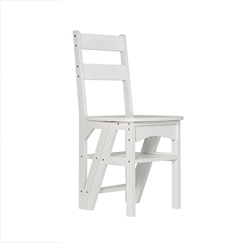 Folding solid wood ladder stool / indoor four-step staircase / multi-function staircase stool ( Color : A ) by Xin-stool