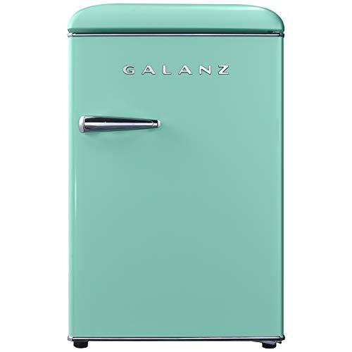 Galanz GLR25MGNR10 Retro Compact Refrigerator, 2.5 Cu Ft, Green