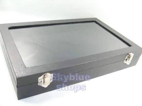 Amazon.com: Parte superior de vidrio negro caja de joyas ...
