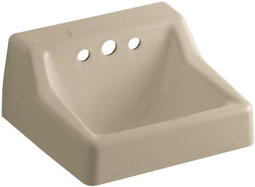 Kohler K-2705-EH-33 Hampton Wall-Mount Bathroom Sink, Les...