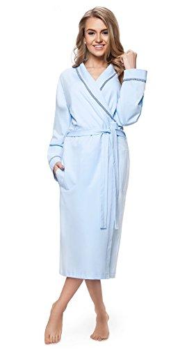 DOROTA - Albornoz - Manga Larga - para mujer azul claro