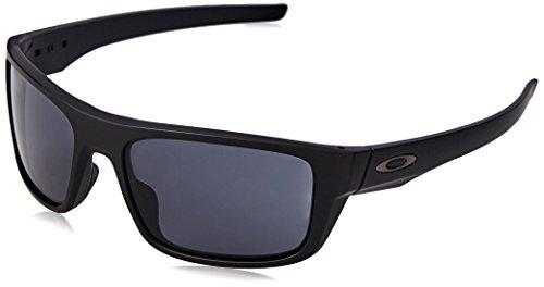 Black Plain Drop Point - Oakley Men's Drop Point Rectangular Sunglasses, Matte Black, 60.0 mm