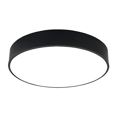 larsure Negro Moderno, minimalista – Lámpara LED de techo plafón circular Salón Dormitorio restaurante Estudio Terraza – Lámpara de techo, 220.00 ...