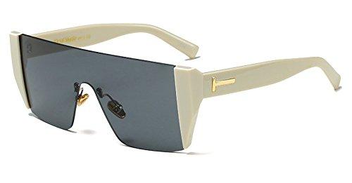 Solsin C2 W LEN Gafas C9 Hembra Sobredimensionado De Cuadrada Sol Blue Len Gafas Cerco Grande W De BEIGE Gafas Azul De Limotai Hombre Hembra Sol NEGRO q1wxTaEq