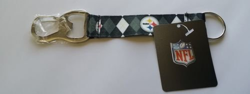 (Pro Specialties Group NFL Pittsburgh Steelers Tailgate Buddy - Strap Keychain with Bottle Opener)