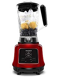 Aimores Commercial Blender for Shakes and Smoothies,Food Processor,High Speed Juice Blender,75oz Pitcher,6 Sharp Blades,Variable Speed Control,with Tamper & Recipe,ETL/FDA(Red)