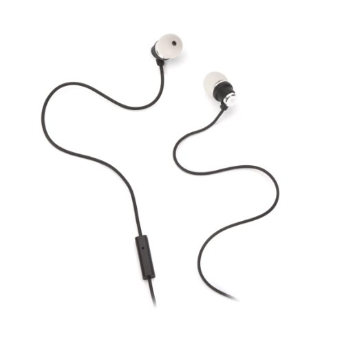 Griffin Earbuds - Griffin Black & Grey Bolts Talk Earbuds with Mic - Noise-isolating in-ear headphones with control mic