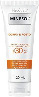 Neostrata Minesol Corpo & Rosto Protetor Solar Fluido Hidratante Fps 30 120 Ml, Neost