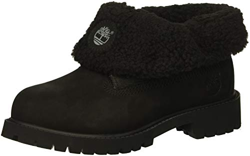 Timberland Baby Icon Collection Roll-top with Fleece Fashion Boot, Black Nubuck, 8.5 Medium US Toddler ()