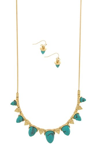 [DIVA & DUCHESS SMALL EPOXY CONE BIB NECKLACE SET (Turquoise)] (Costumes For Dogs With Cones)