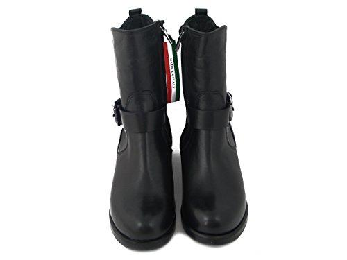 OSVALDO PERICOLI Stivaletto Donna in Pelle Nero, Tacco 4cm. - M6010 i17
