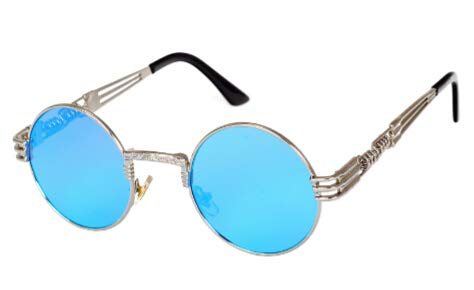358d26f5a Image Unavailable. Image not available for. Colour: Bharat Ventures Peekaboo  vintage retro gothic steampunk mirror sunglasses gold and ...