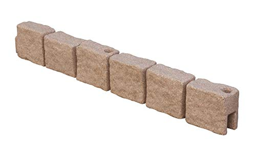 True Form Plastic Flex-Wall Landscape Edging (4 Foot Section - Pack of 4, Cobblestone)