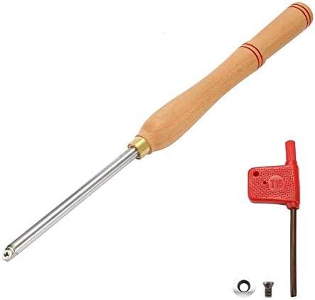 耐久性のある合金鋼旋盤木製旋削工具超硬インサートレンチカッターツール木製ハンドル付きスクエアシャンク木工工具レンチツール(サイズ:TypeE)