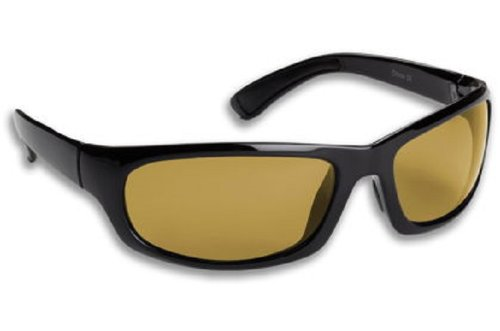 Fisherman Eyewear Permit Sunglass, Matte Black Frame, Amber Polarized Lens, - Sunglasses Fisherman Eyewear