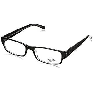 Ray Ban Eyeglasses RX5069 2034 Black on Transparent/Demo Lens, 53mm