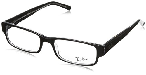 Ray Ban Eyeglasses RX5069 2034 Black on Transparent/Demo Lens, - Ray Watches Ban
