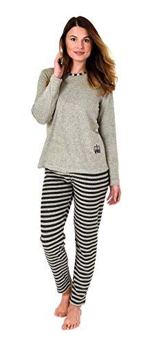vollständig in den Spezifikationen begrenzter Verkauf Junge Creative by Normann Edler Damen Frottee Pyjama Langarm mit ...