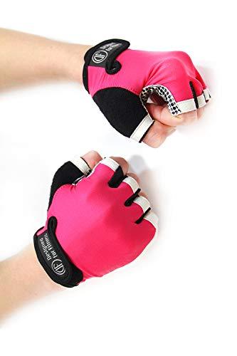 Gloves White N Pink