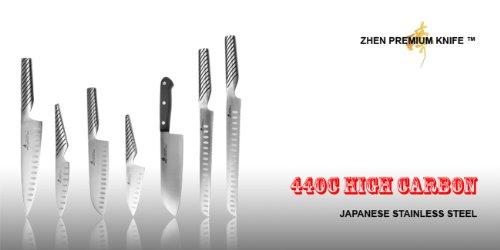 ZHEN Japanese Steel 8-Inch Chef's Knife and 7-Inch Santoku Knife Set