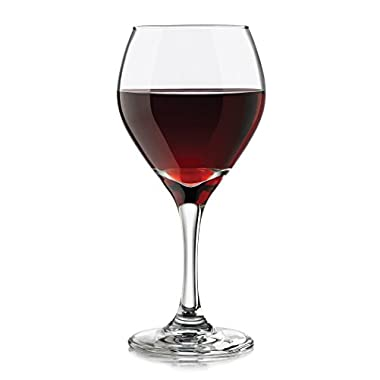 Libbey 3056S4 4 Piece Basics Red Wine Glass, 10 oz, Clear