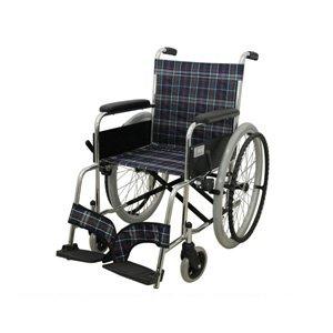 自走式標準車いす チェックネイビーブルー MW-22ST-CNV 車椅子 車イス B00CWTB86C