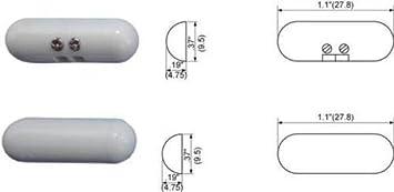 5 Surface Home Security Alarm Switch Window Contact Sensor Dark Brown Pill