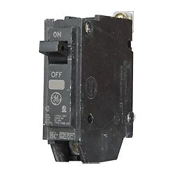 GE THQB1120 Bolt-On Mount Type THQB Miniature Circuit Breaker 1-Pole 20 Amp 120/240 Volt AC (Pole Ge Circuit Breaker Single)