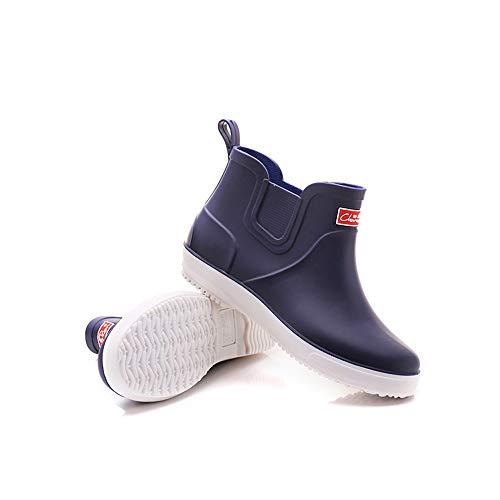 Azul Lluvia Antideslizantes Goma Botas Agua Para Cortos Cocina Fondo Con Impermeables Zapatos De Verano Plano Hombre Hx0w5pZaq