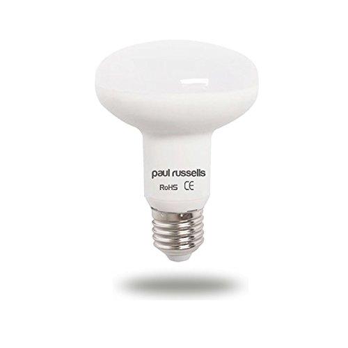 Pack de 3 bombillas LED reflectoras de 7 W E27 ES Edison rosca Paul Russells brillante 7 W=60 W Foco R80 foco luz 270 haz lámpara 6500 K día luz ...