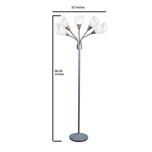 Light Accents Medusa Grey Floor Lamp with White Acrylic Shades by LIGHTACCENTS (Image #7)