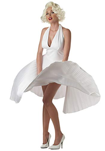 California Costumes Women's Adult Deluxe Marilyn, White, M