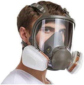 Gas mascarilla de silicona filtro de carbón activado gafas completo de filtro doble que se pueden utilizar para gas orgánico y carbono benzofenona vapor disulfuro etc,A